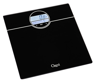 Ozeri WeightMaster 400 lbs Digital Bath Scale w/ BMI and Weight Change Detection; Black