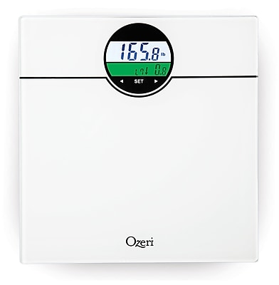 Ozeri WeightMaster 400 lbs Digital Bath Scale w/ BMI and Weight Change Detection; White