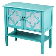 Heather Ann 2 Door Console Cabinet; Turquoise