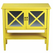 Heather Ann 2 Door Console Cabinet; Yellow
