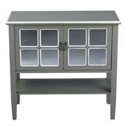 Heather Ann 2 Door Console Acccent Cabinet; Grey/White