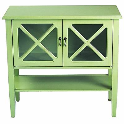 Heather Ann 2 Door Console Acccent Cabinet; Lite Green WYF078278307846