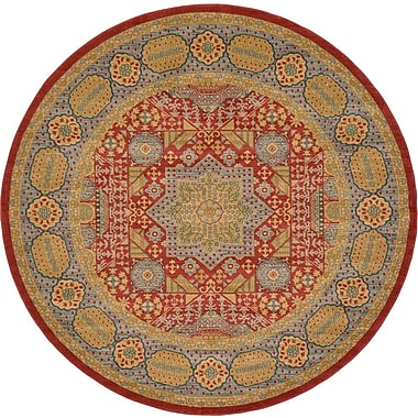Astoria Grand Laurelwood Light Red Area Rug; Round 8'