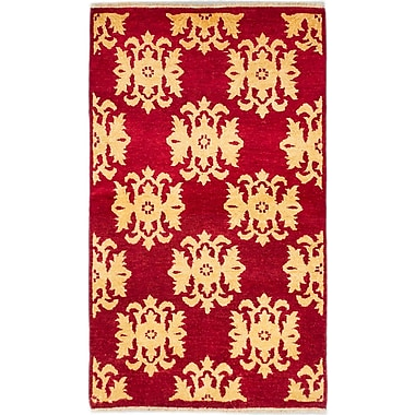ECARPETGALLERY Peshawar Ziegler Hand-Knotted Red Area Rug