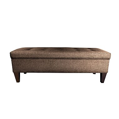 MJLFurniture Sand Wood Storage Bench; Brown