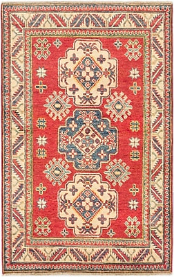 ECARPETGALLERY Finest Gazni Hand-Knotted Red Area Rug; 3'4'' x 5'3''