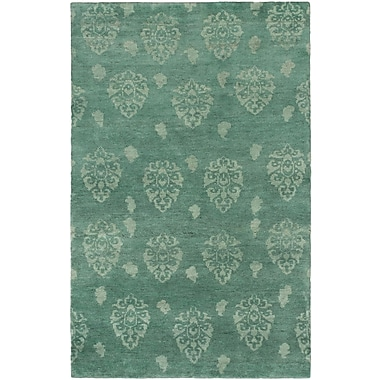ECARPETGALLERY Royal Maroc Hand-Knotted Teal Area Rug