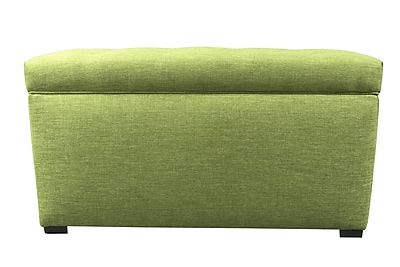 MJLFurniture Key Largo Wood Storage Bench; Grass