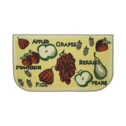 Structures Textured Loop Tossed Fruits Kitchen Area Rug