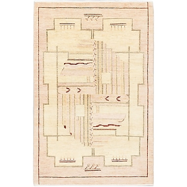 ECARPETGALLERY Peshawar Ziegler Hand-Knotted Ivory Area Rug