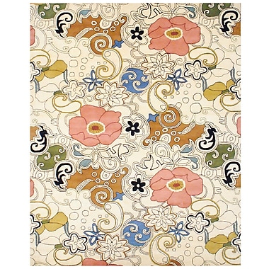 Herat Oriental Hand-Tufted Ivory/Olive Area Rug; Rectangle 8' x 11'