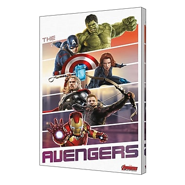 Pyramid America 'Avengers - Team Up' Framed Graphic Art on Wrapped Canvas
