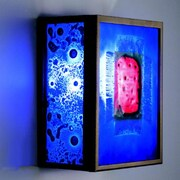 WPT Design FN 1-Light Wall Sconce; Red Window Blue