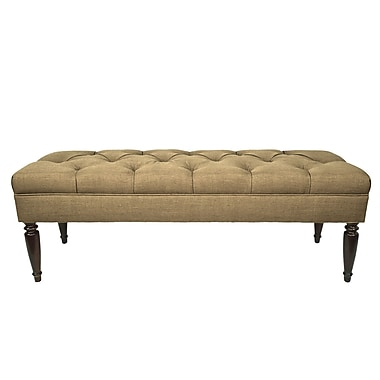 MJLFurniture Allure Upholstered Bench; Pebble