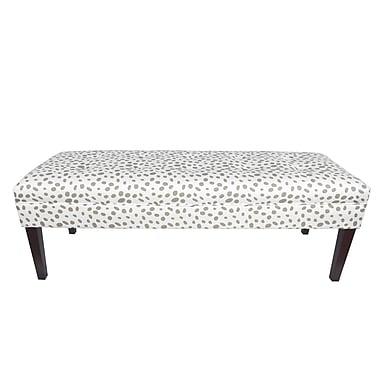 MJLFurniture Kaya Togo Upholstered Bench; Ecru