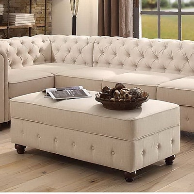 Mulhouse Furniture Garcia Fabric Storage Bench