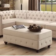 Mulhouse Furniture Garcia Fabric Storage Bedroom Bench