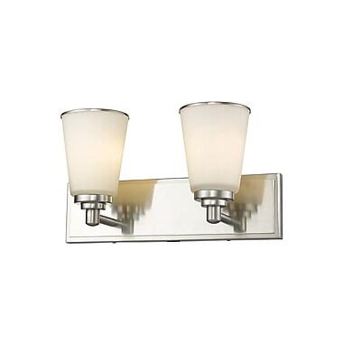 Z-Lite Jarra 2-Light Vanity Light; Brushed Nickel