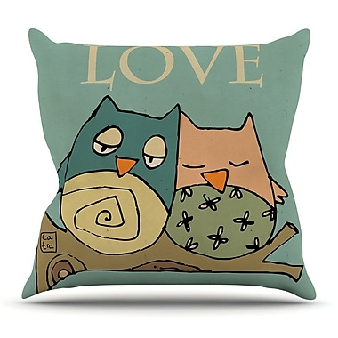 KESS InHouse Lechuzas Love by Carina Povarchik Throw Pillow; 26'' H x 26'' W x 5'' D
