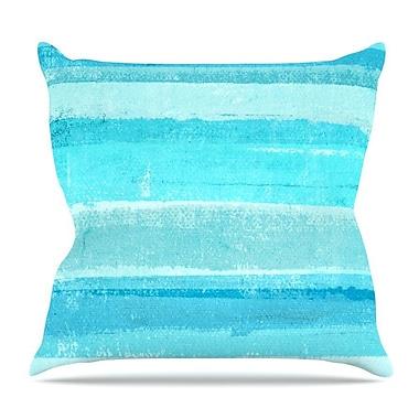KESS InHouse Sand Bar by CarolLynn Tice Throw Pillow; 16'' H x 16'' W x 3'' D