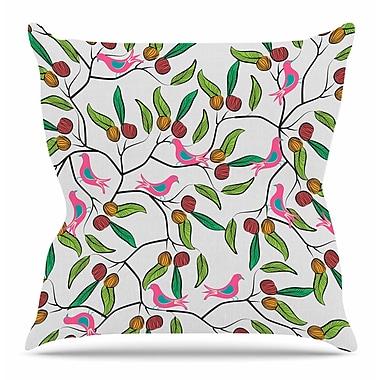 KESS InHouse Birds World by Famenxt Throw Pillow; 18'' H x 18'' W x 3'' D