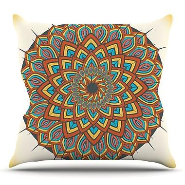 KESS InHouse Floral Mandala by Famenxt Throw Pillow; 26'' H x 26'' W x 5'' D