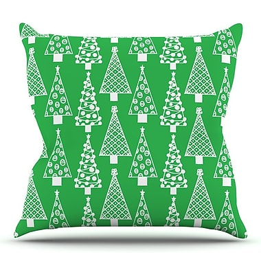 KESS InHouse Jolly Trees by Emine Ortega Throw Pillow; 20'' H x 20'' W x 4'' D