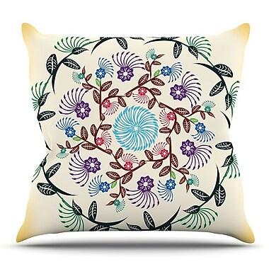 KESS InHouse Nature Mandala by Famenxt Throw Pillow; 20'' H x 20'' W x 4'' D