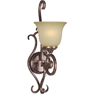 Forte Lighting 1-Light Wall Sconce in Rustic Spice
