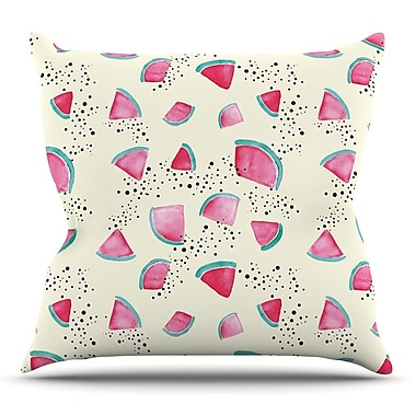 KESS InHouse Watermelon by Danii Pollehn Throw Pillow; 20'' H x 20'' W x 4'' D