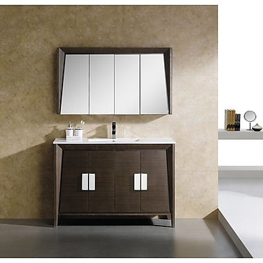 Fine Fixtures Imperial II 47.25'' x 27.13'' Surface Mount Medicine Cabinet; White