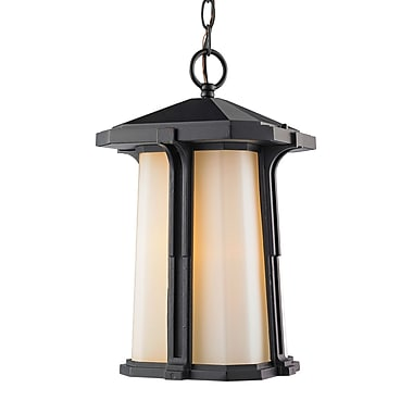 Z-Lite Harbor Lane 1-Light Outdoor Pendant; 12'' H x 7.5'' W x 7.5'' D