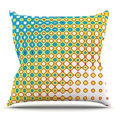 KESS InHouse Psychedelic Art by Dawid Roc Throw Pillow; 26'' H x 26'' W x 5'' D