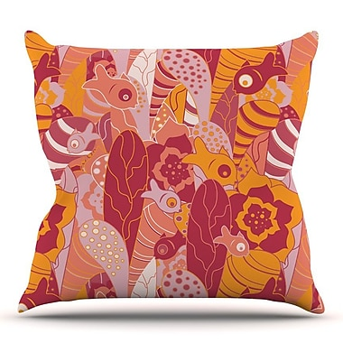 KESS InHouse Fishes Here, Fishes There 3 by Akwaflorell Throw Pillow; 26'' H x 26'' W x 5'' D