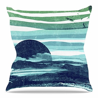 KESS InHouse Sea Scape by Frederic Levy-Hadida Throw Pillow; 18'' H x 18'' W x 3'' D
