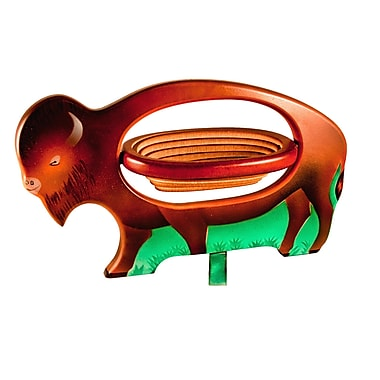 Womar Glass Collapsible Basket Figurine