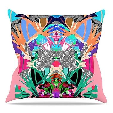 KESS InHouse Japanese Rorschach by Danii Pollehn Throw Pillow; 26'' H x 26'' W x 5'' D
