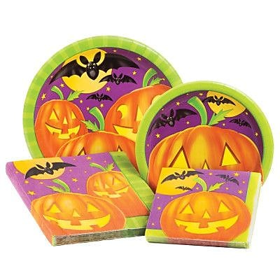 Creative Converting Pumpkin Shine 4 Piece Dinnerware Set (Set of 64) WYF078278152426