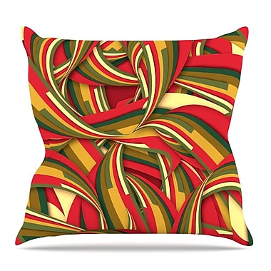KESS InHouse Excited Christmas by Danny Ivan Throw Pillow; 16'' H x 16'' W x 3'' D