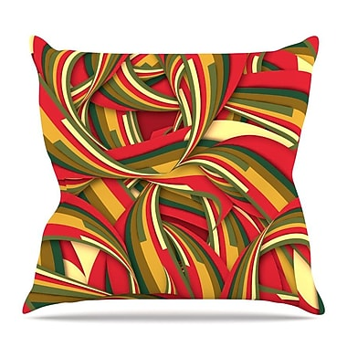 KESS InHouse Excited Christmas by Danny Ivan Throw Pillow; 20'' H x 20'' W x 4'' D