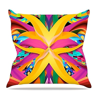 KESS InHouse Tropical Fun by Danny Ivan Throw Pillow; 26'' H x 26'' W x 5'' D