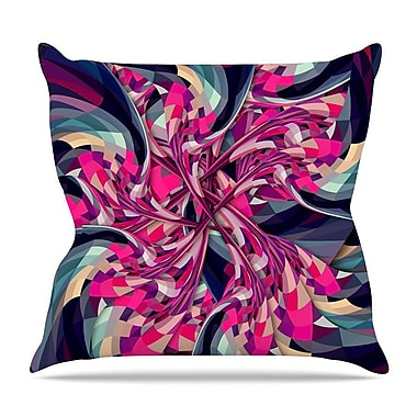 KESS InHouse Spiral by Danny Ivan Throw Pillow; 26'' H x 26'' W x 5'' D