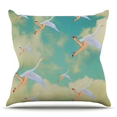 KESS InHouse Swan by Natt Throw Pillow; 18'' H x 18'' W x 3'' D