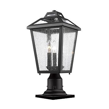 Z-Lite Bayland 3-Light Pier Mount Light; Black
