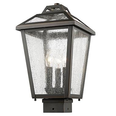 Z-Lite Bayland 3-Light Lantern Head; Oil Rubbed Bronze