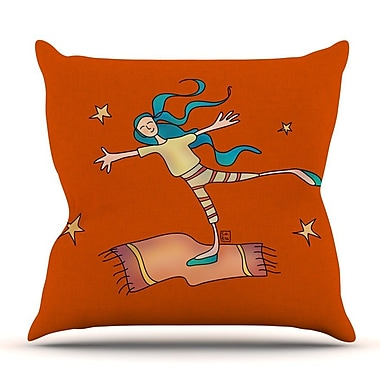 KESS InHouse Being Free by Carina Povarchik Throw Pillow; 20'' H x 20'' W x 4'' D