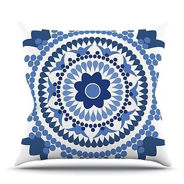 KESS InHouse Bohemian Blues by Carolyn Greifeld Throw Pillow; 26'' H x 26'' W x 5'' D