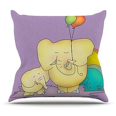 KESS InHouse Party Time by Carina Povarchik Throw Pillow; 16'' H x 16'' W x 3'' D