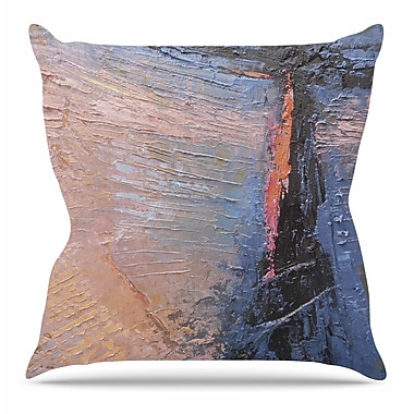 KESS InHouse Coral and Blue by Carol Schiff Throw Pillow; 16'' H x 16'' W x 3'' D