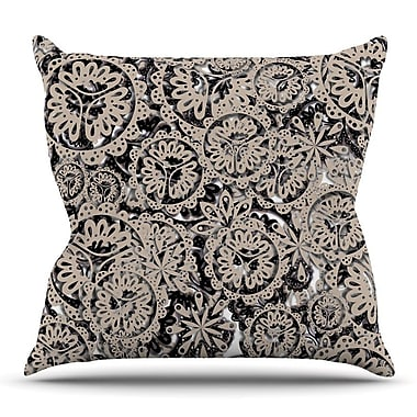 KESS InHouse Snowflakes by Akwaflorell Throw Pillow; 26'' H x 26'' W x 5'' D